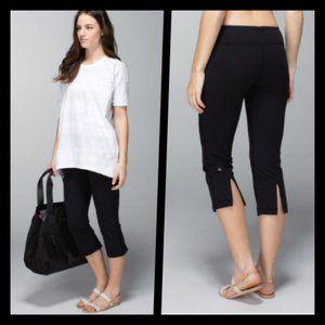 Lululemon Gather & Crow Crop Yoga Pants Black 4